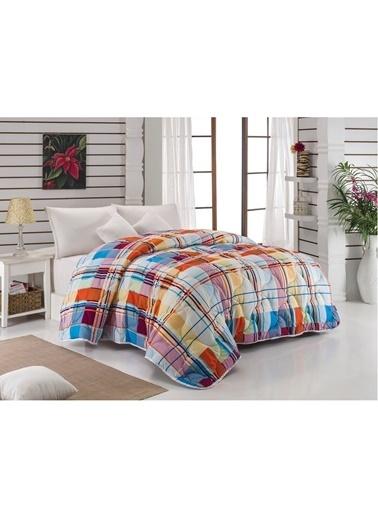 Komfort Home Baskılı Çift Kişilik Microfiber Yorgan + 2 Yastık Renkli